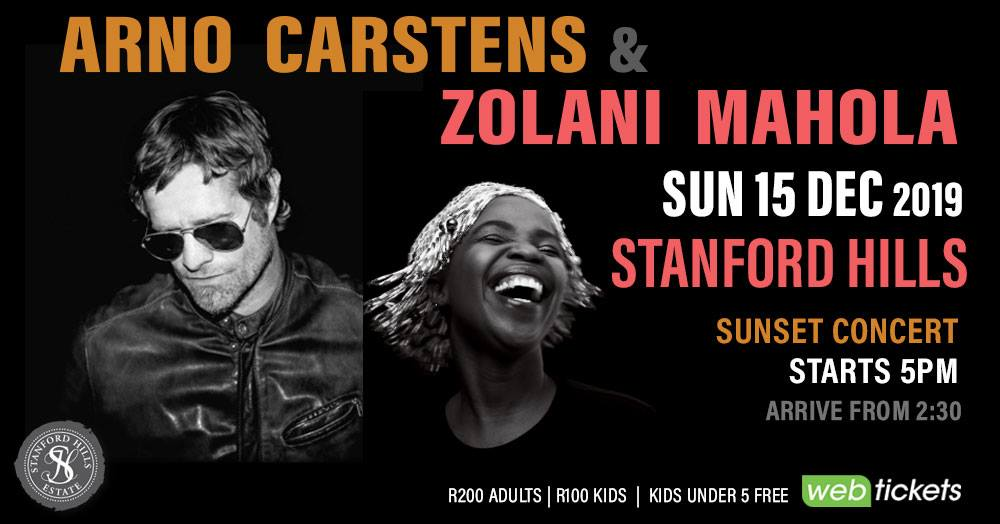 Arno Carstens & Zolani Mahola Live at Stanford Hills ~ 15 December 2019